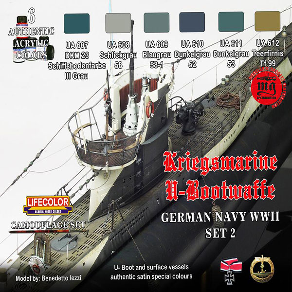 U-BOOTWAFFE GERMAN NAVY SET 2 LIFECOLOR CS12