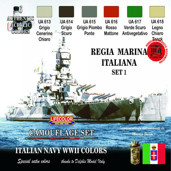 ITALIAN NAVY WWII REGIA MARINA SET 1 LIFECOLOR CS15