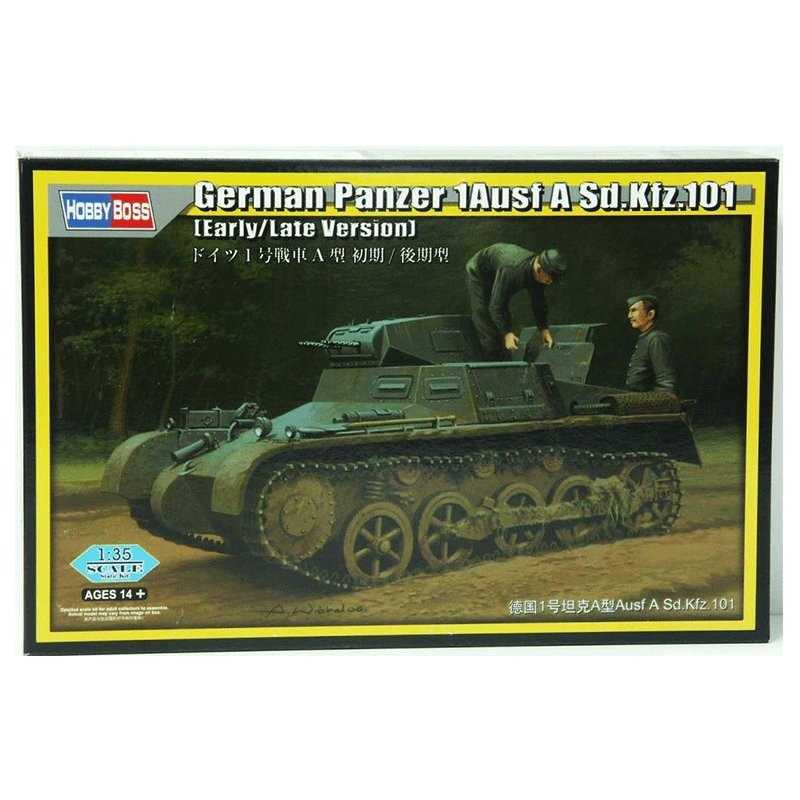 GERMAN PANZER 1 AUSF A SD.KFZ.101 EARLY / LATE VERSION HobbyBoss 80145