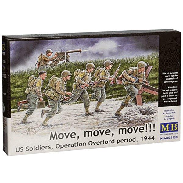 MASTERBOX-1-35-US-SOLDIERS-OPERACION-OVERLORD-MOVE,-MOVE,-MOVE