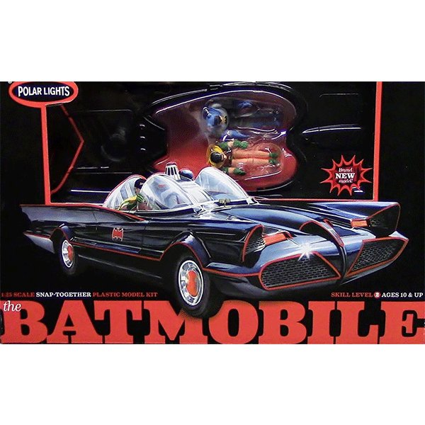 POLAR-LIGHTS-BATMOBILE-1966-TV-SERIES-WITH-FIGURES