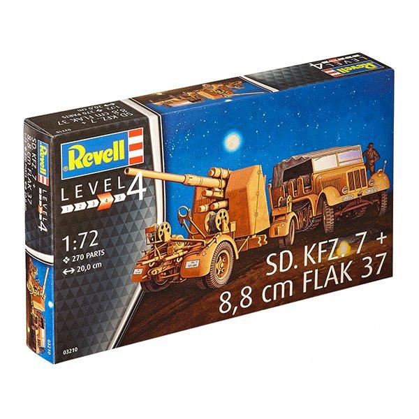 REVELL-1-72-Sd.-Kfz.-7&8,8cm-Flak-37