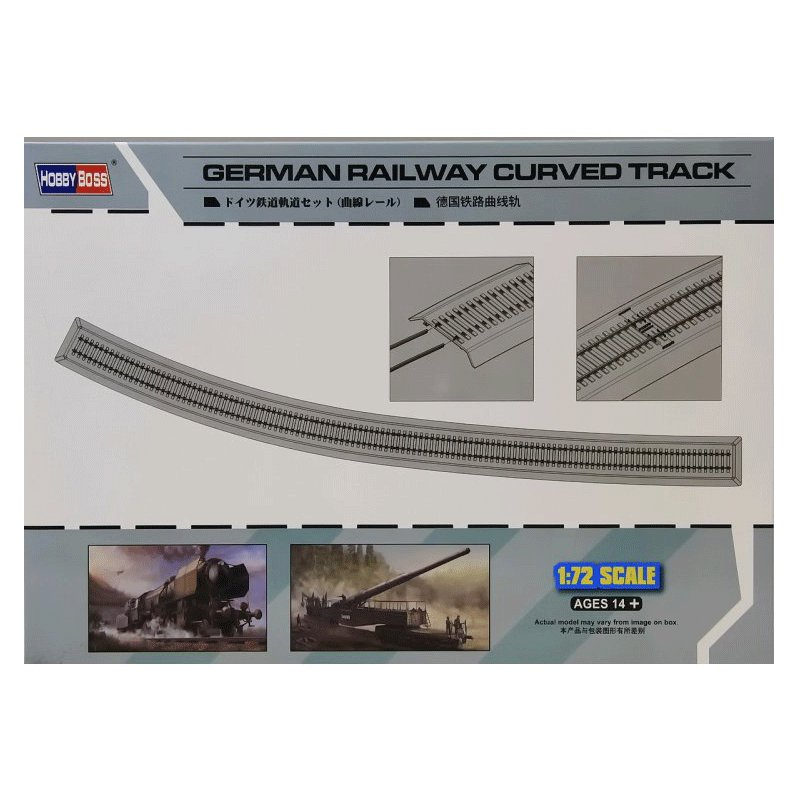 HOBBYBOSS-1-72-GERMAN-RAILWAY-CURVED-TRACK
