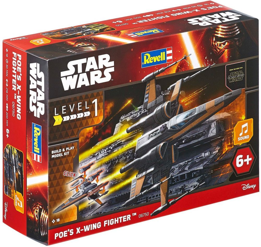 REVELL 178 STAR WARS FIRST ORDER POES X WING FIGHTER