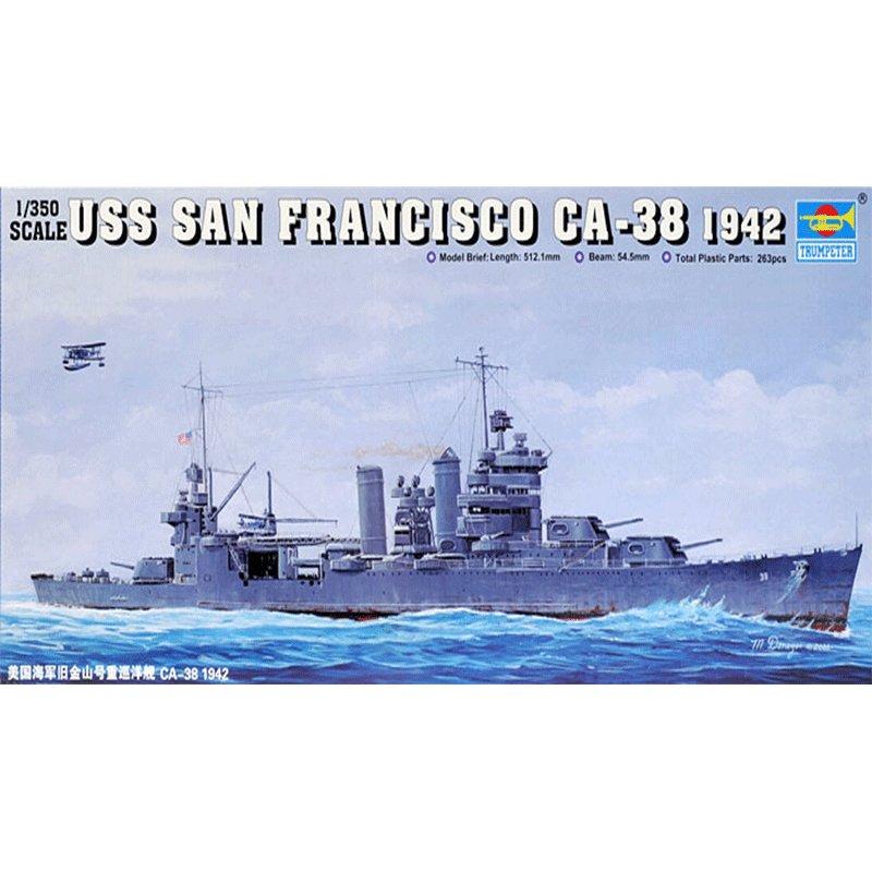 TRUMPETER-1-350-USS-SAN-FRANCISCO-CA-38-(1942)