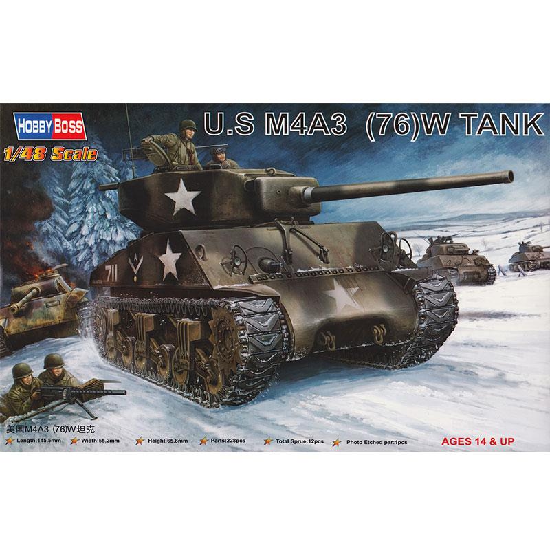 HOBBYBOSS-1-48-US-M4A3-76-W-TANK