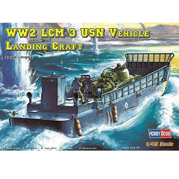 LCM-3 USN VEHICLE LANDING CRAFT HOBBYBOSS 84817 ESCALA 1:48