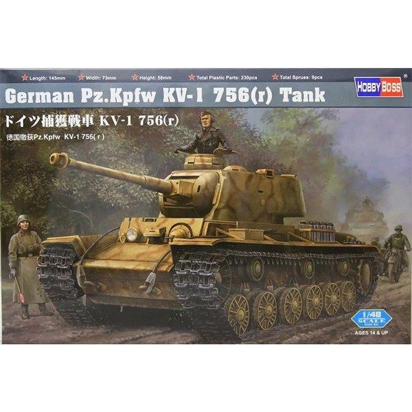 HOBBYBOSS-1-48-GERMAN-Pz.Kpfw-KV-1-756-(r)-tank