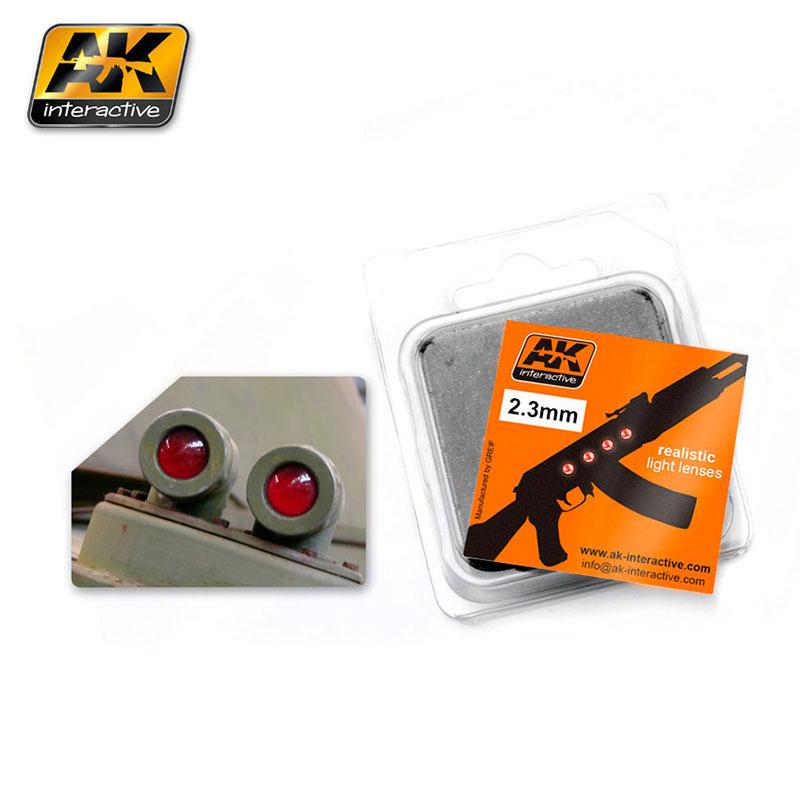 LENTES DE COLOR ROJO 2.3 MM AK210