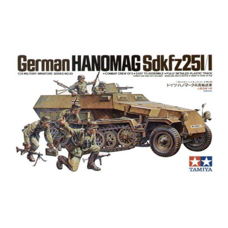GERMAN-HANOMAG-Sdkfz25I-I TAMIYA 35020 ESCALA 1:35
