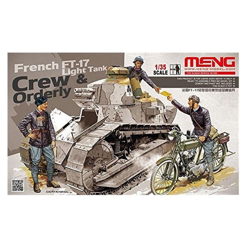 FRENCH-FT-17-LIGHT-TANK-CREW-&-ORDERLY MENG HS-005