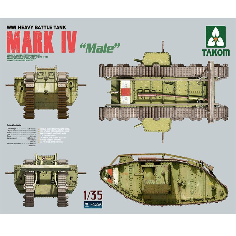 WWI-HEAVY-BATTLE-TANK-MARK-IV-MALE