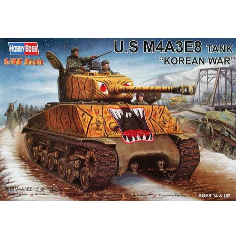 US-M4A3E8-TANK-KOREAN-WAR