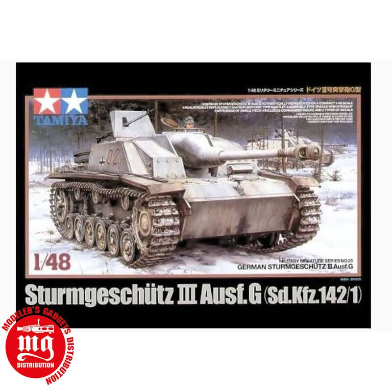STURMGESCHÜTZ-III-Ausf.G-Sd.Kfz.142-1 TAMIYA 32525 ESCALA 1:48