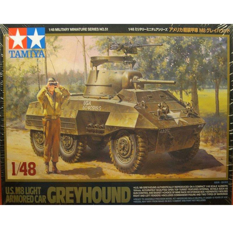 GREYHOUND-US-M8-LIGHT-ARMORED-CAR TAMIYA 32551 ESCALA 1:48