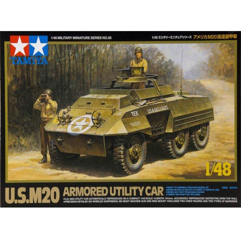 US-M20-ARMORED-UTILITY-CAR TAMIYA 32556 ESCALA 1:48