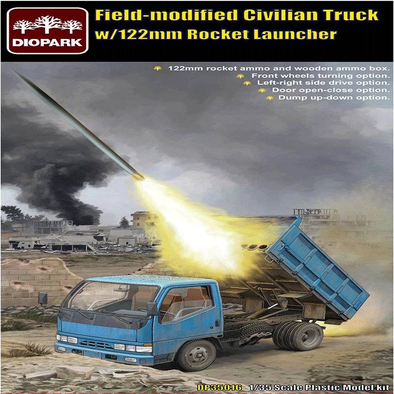 FIELD-MODIFIED-CIVILIAN-TRUCK-WITH-122-MM-ROCKET-LAUNCHER