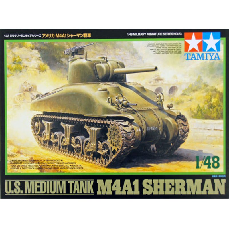 U.S.-MEDIUM-TANK-M4A1-SHERMAN TAMIYA 32523 ESCALA 1:48