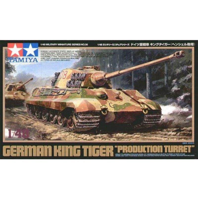 GERMAN-KING-TIGER-PRODUCTION-TURRET TAMIYA 32536 ESCALA 1:48