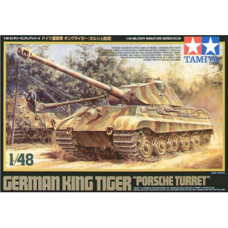 GERMAN-KING-TIGER-PORSCHE-TURRET TAMIYA 32539 ESCALA 1:48
