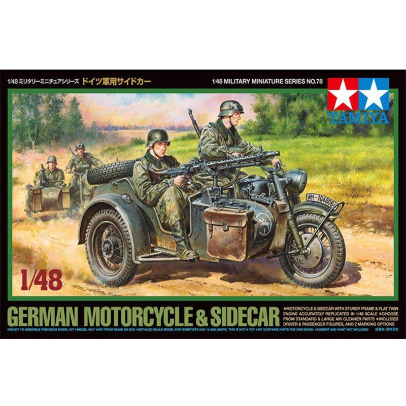 GERMAN-MOTORCYCLE-AND-SIDECAR TAMIYA 32578 ESCALA 1:48