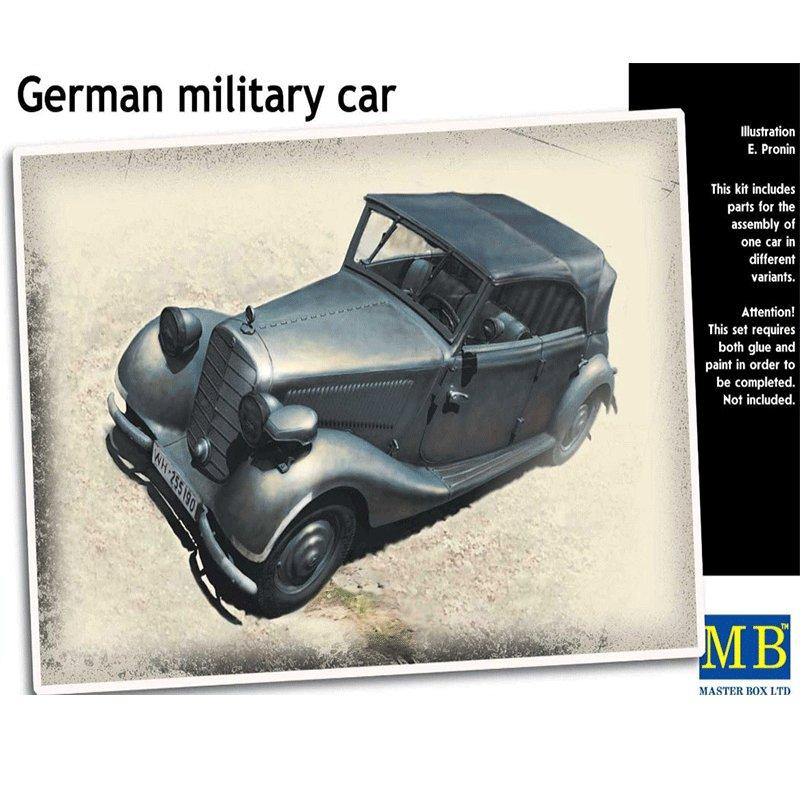 GERMAN MILITARY CAR TYP 170 V TOURENWAGEN 4 TÜREN SEGUNDA GUERRA MUNDIAL MASTER BOX MB35100