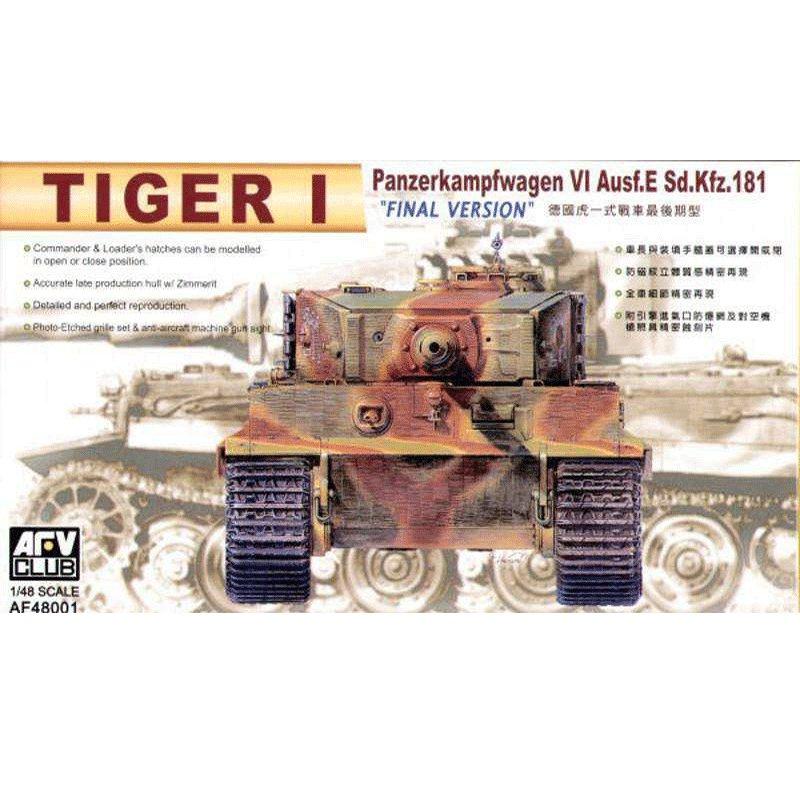 TIGER-I-PANZERKAMPFWAGEN-VI-Ausf.E-Sd.Kfz.181-FINAL-VERSION AFV CLUB AF48001 ESCALA 1:48
