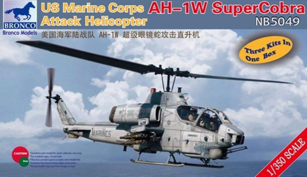 USMC AH-1W SUPERCOBRA ATTACK HELICOPTER BRONCO MODELS NB 5049