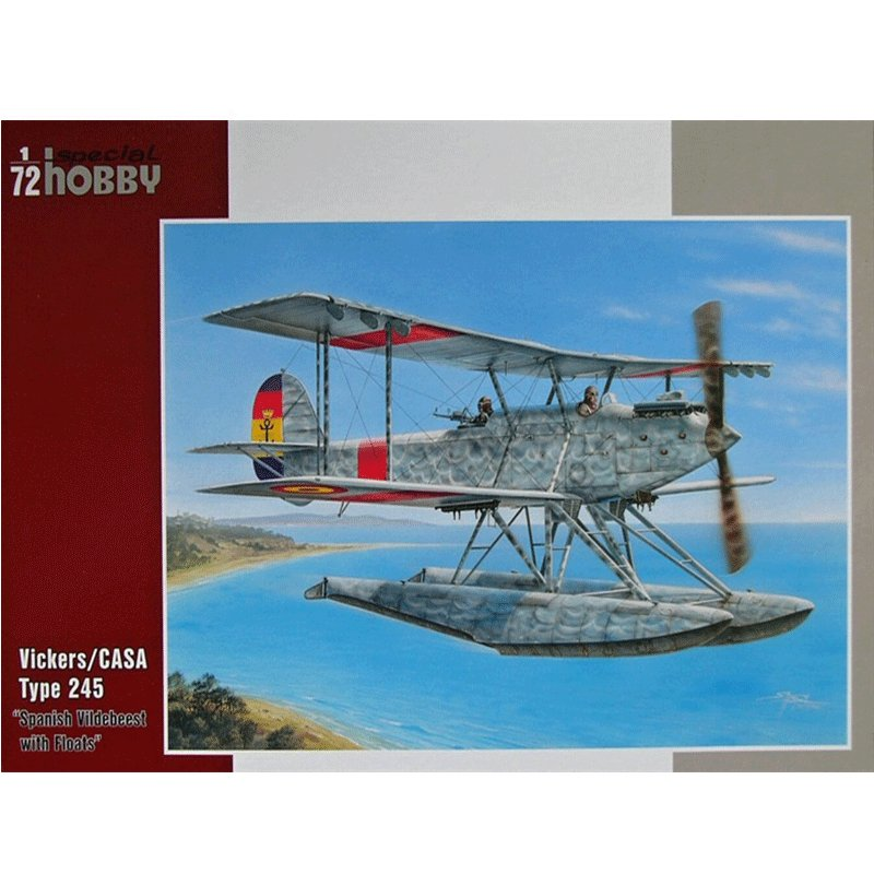 VICKERS-CASA-TYPE-245-SPANISH-VILDEBEEST-WITH-FLOATS SPECIAL HOBBY SH72241
