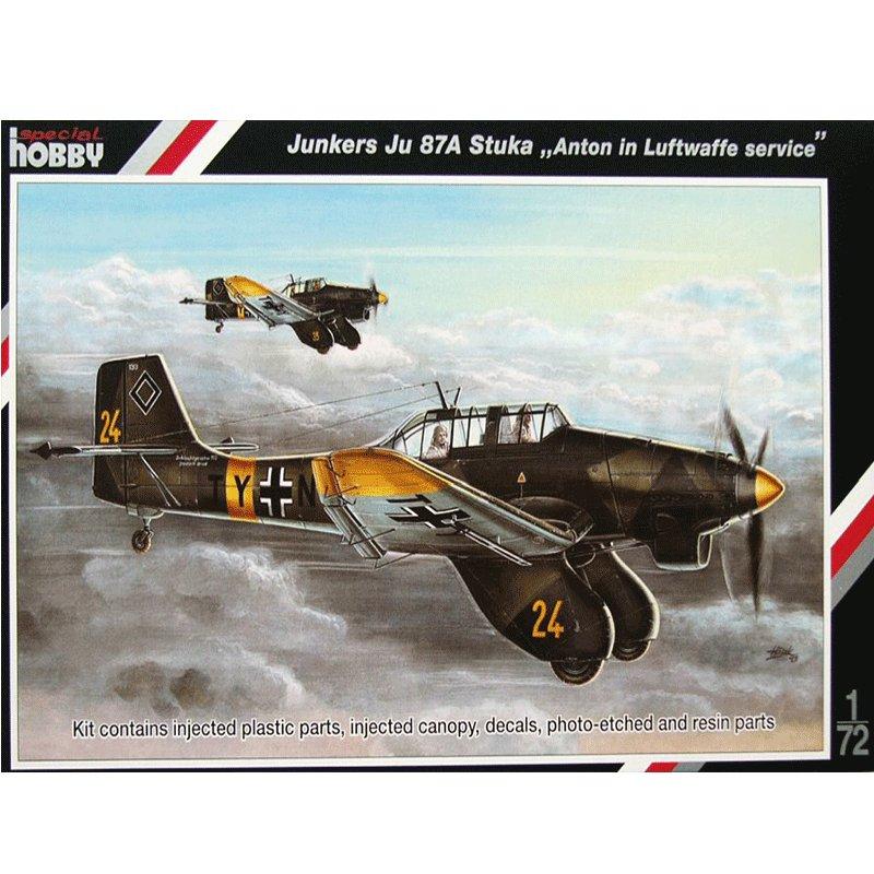 JUNKERS-JU-87A-STUKA-ANTON-IN-LUFTWAFFE-SERVICE SPECIAL HOBBY SH72136