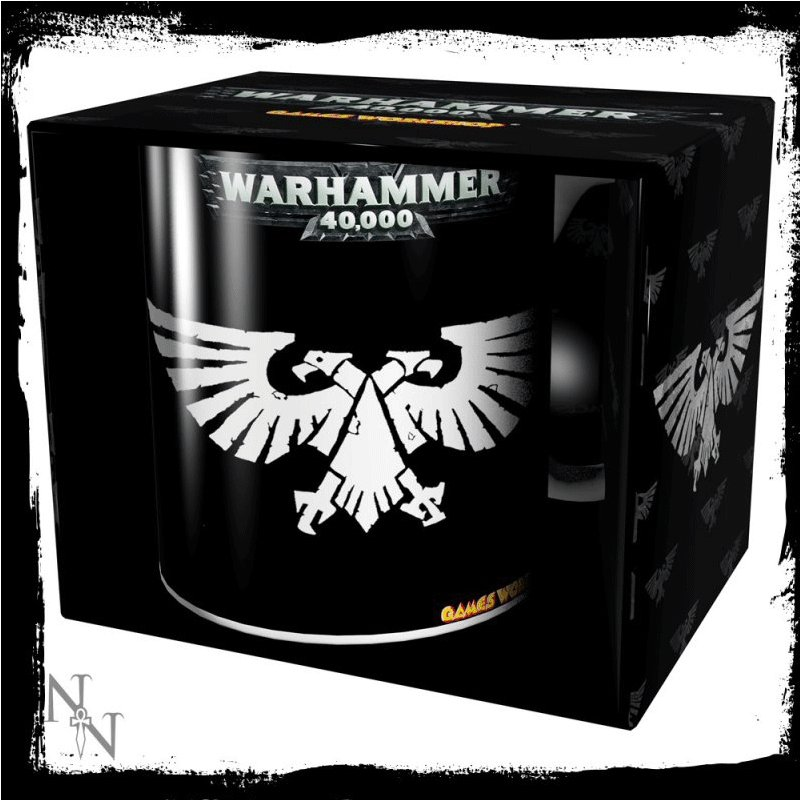 TAZA-WARHAMMER-LOGO WARHAMMER 40000