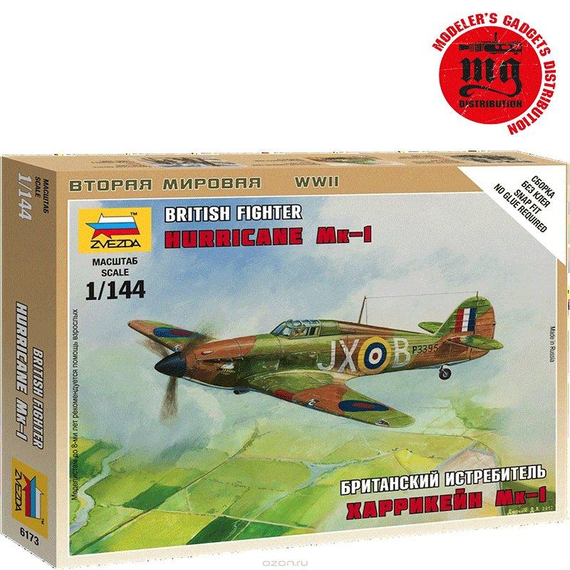 BRITISH-FIGHTER-HURRICANE-MK-I ZVEZDA 6173