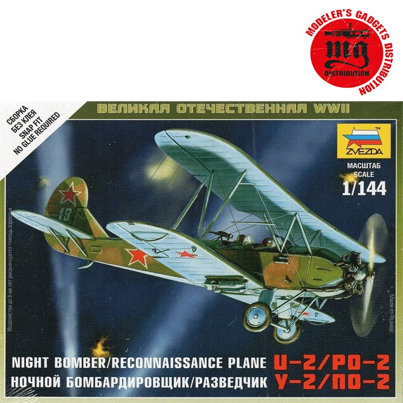 SOVIET-RECONNAISSANCE-PLANE-PO-2-WWII ZVEZDA 6150