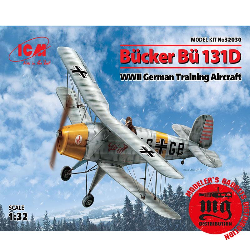 BUCKER-BU-131D-WWII-GERMAN-TRAINING-AIRCRAFT ICM 32030