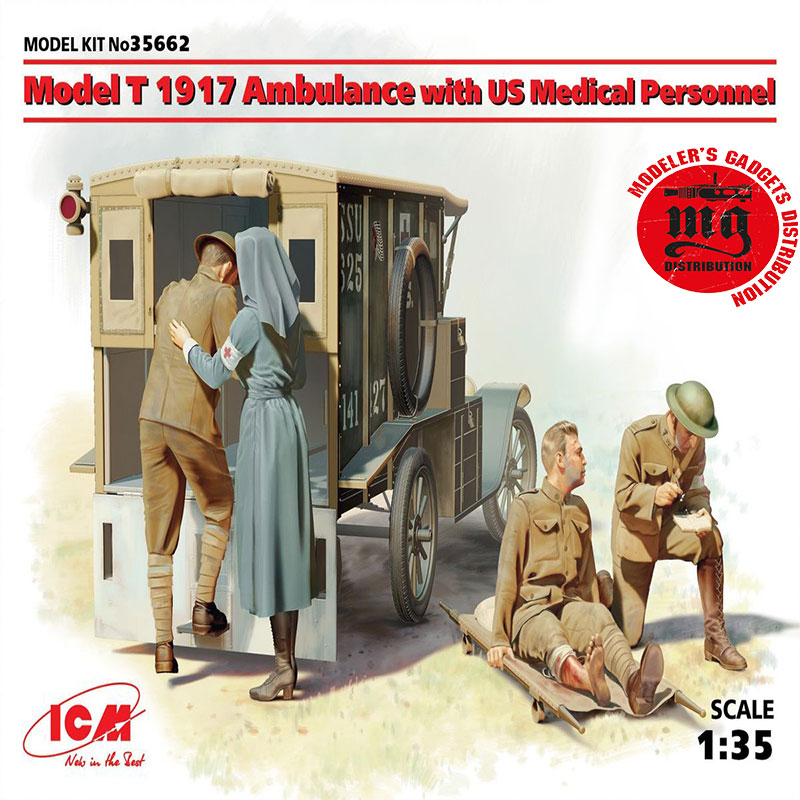 MODEL-T-1917-AMBULANCE-WITH-US-MEDICAL-PERSONNEL