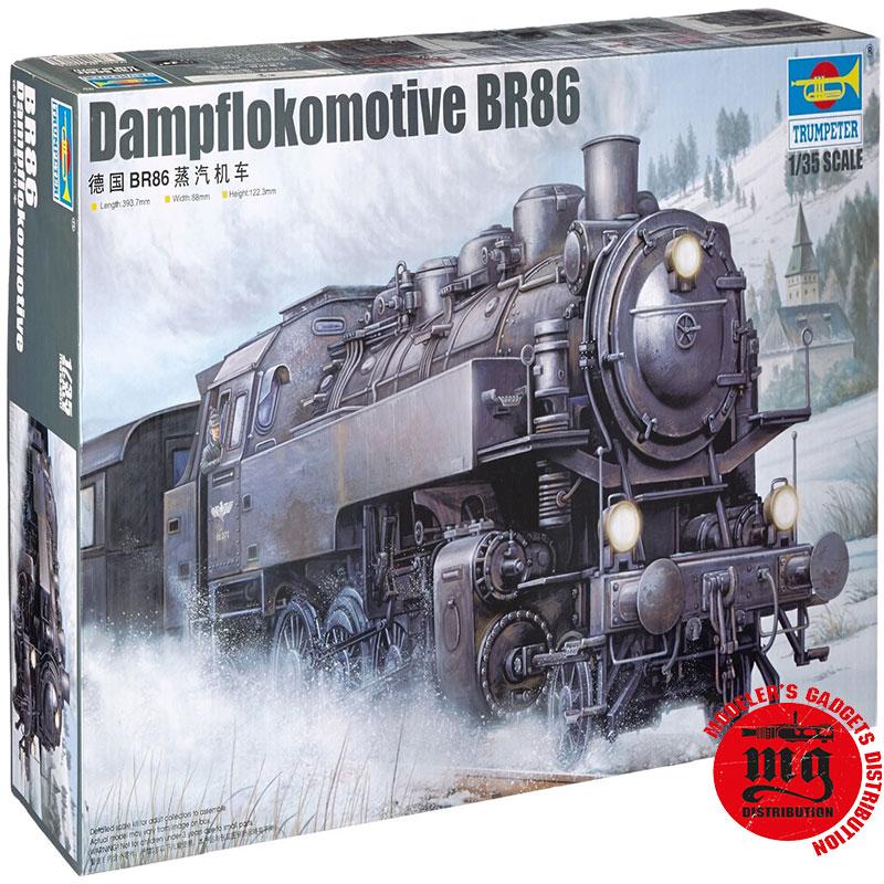 DAMPFLOKOMOTIVE-BR86-TRUMPETER-00217 ESCALA 1:35