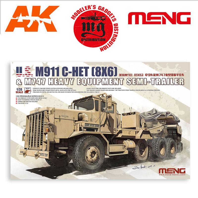 M911-C-HET-8-X-6-AND-M747-HEAVY-EQUIPMENT-SEMI-TRAILER MENG SS-013