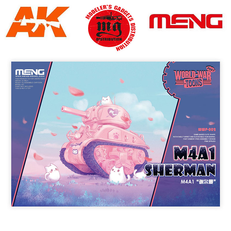 M4A1-SHERMAN-WORLD-WAR-TOONS-CARTOON-MODEL-PINK-COLOR
