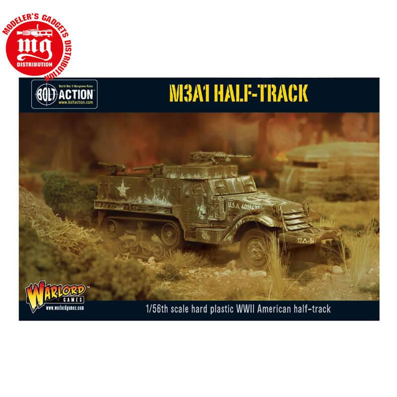 M3A1-HALF-TRACK WARLORD GAMES BOLT ACTION WGB-AI-501 ESCALA 1:56