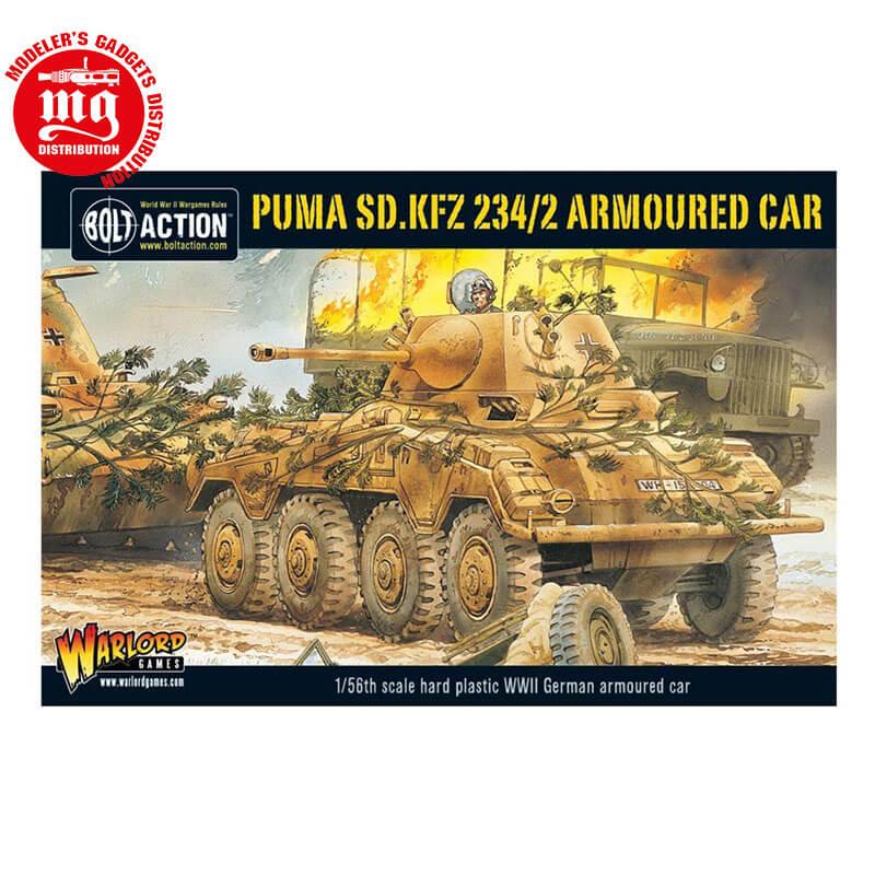 PUMA-SD.KFZ-234-2-ARMOURED-CAR WARLORD GAMES BOLT ACTION 5060200849811 ESCALA 1:56