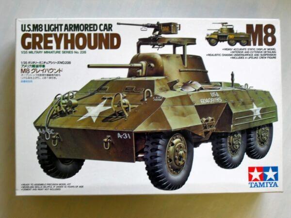 US M8 LIGHT ARMORED CAR GREYHOUND ESCALA 1/35 TAMIYA 35228