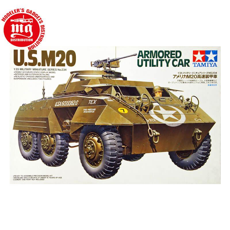 US-M20-ARMORED-UTILITY-CAR ESCALA 1:35 TAMIYA 35234