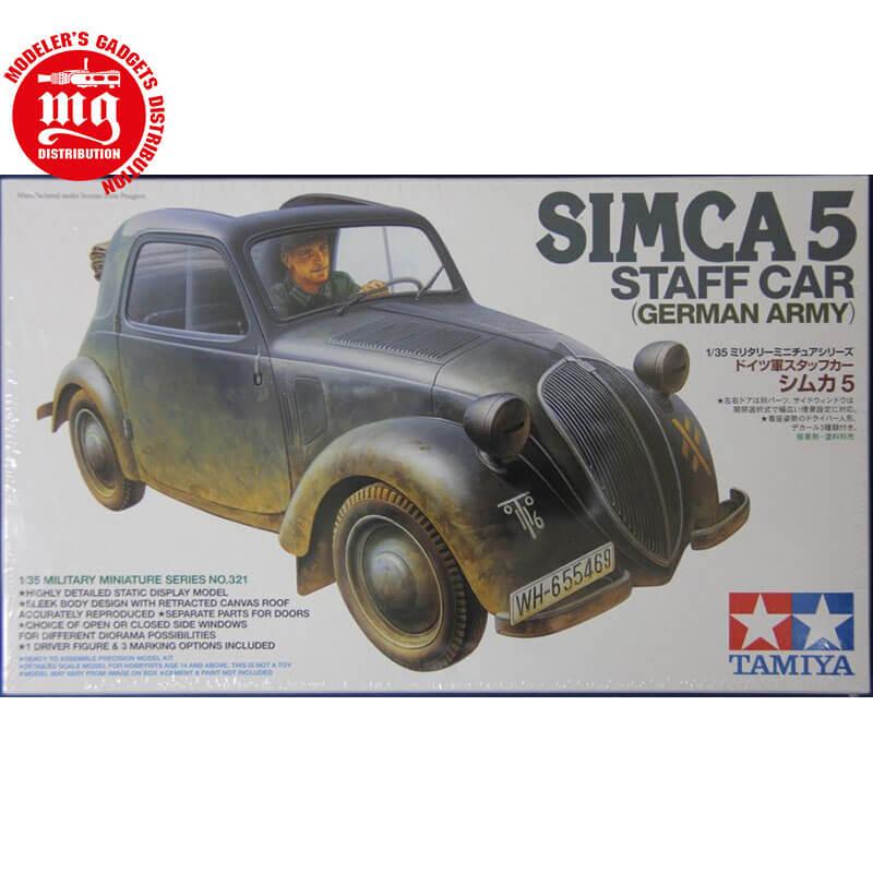SIMCA-5-STAFF-CAR ESCALA 1/35 TAMIYA 35321