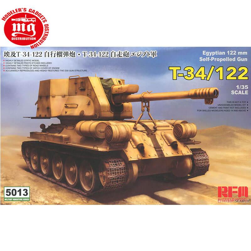 T-34-122-AUTOPROPULSADO-EGIPCIO